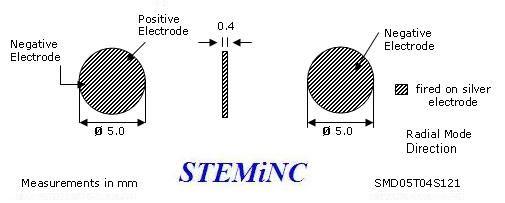 piezoelectric disc transducer 5x 0 4mm 450 khz