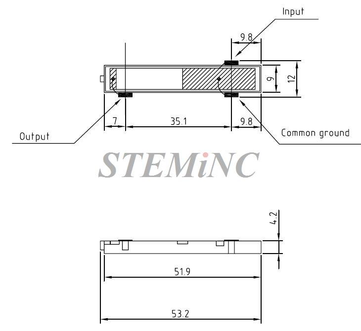 single layer piezo transformer 67 khz - smstf71p8s8