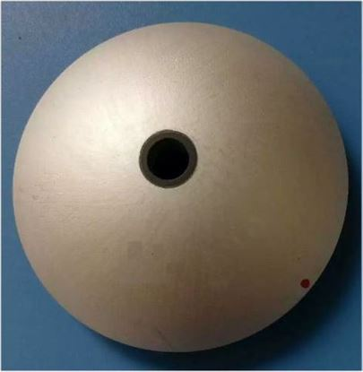 Picture of Piezoelectric Hemisphere Cap 3.0 MHz With Center Hole