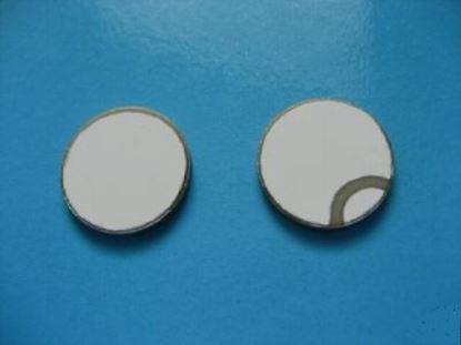 Picture of Piezo Ceramic Disc 10x2mm, R, 1 MHz