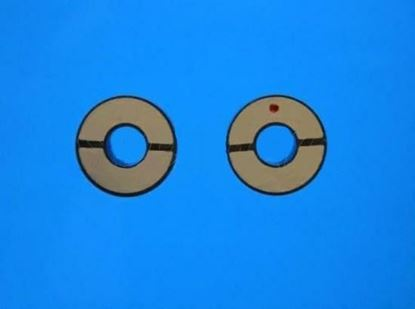 Picture of Piezo Ceramic Ring 10x4x3.9mm Half Moon Electrodes