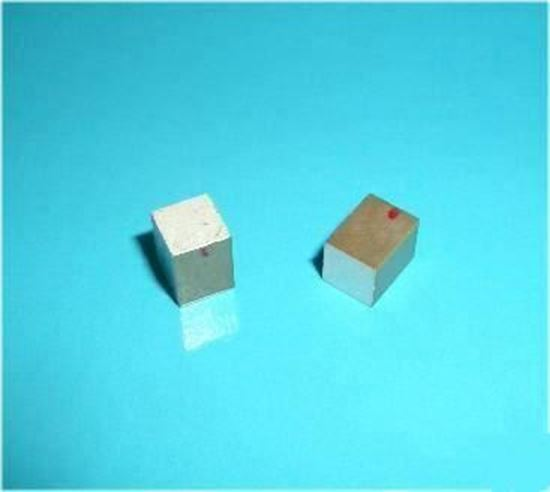 Picture of Piezo Ceramic Block 5x5x6.6mm  200 KHz