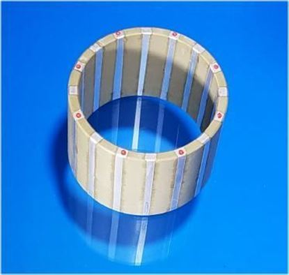 Picture of Piezo Tube Striped Electrode 54x47x40mm 17 KHz