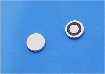 Picture of Piezo Ceramic Disc 10x2mm, Circular R Electrode, 1 MHz