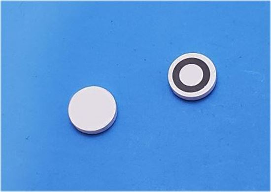 Picture of Piezo Ceramic Disc 10x2mm, Circular R Electrode, 1 MHz